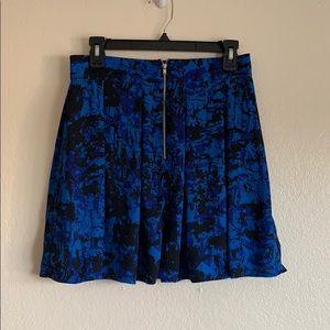 Black and blue mini skirt
